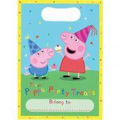 8 stk Godispåsar med Födelsedagsmotiv - Peppa Pig
