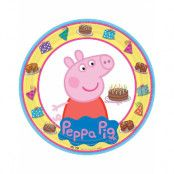 8 stk Papptallrikar 23 cm - Peppa Pig