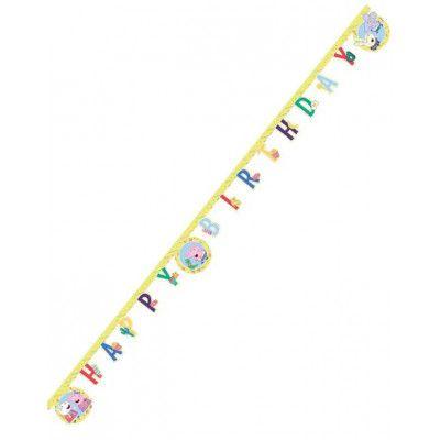 Happy Birthday Banner 2 meter - Peppa Gris