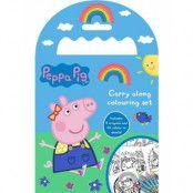 Målarbok med 5 stk Färgpennor - Peppa Pig