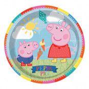 Papperstallrikar Greta Gris/Peppa Pig - 8-pack