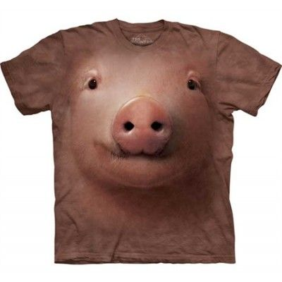 Pig Big Face T-Shirt, Basic Tee