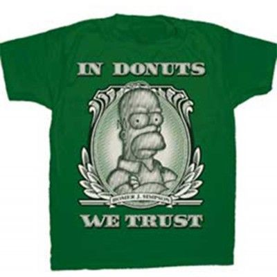 Homer - In Donuts We Trust, Basic Tee