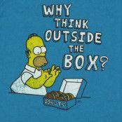 Homer Simpson Outside box