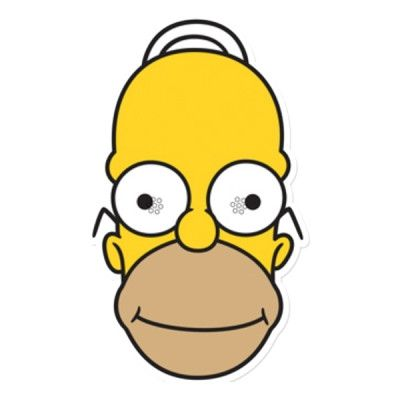 Homer Simpson Pappmask - 1-pack
