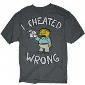 Simpsons - I Cheated Wrong T-Shirt, Basic Tee
