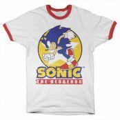 Fast Sonic - Sonic The Hedgehog Ringer Tee, Ringer Tee