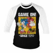 Sonic - Game On Since 1991 Baseball 3/4 Sleeve Tee, Baseball 3/4 Sleeve Tee