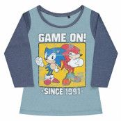 Sonic - Game On Since 1991 Baseball Girly Tee, Baseball Girly Tee