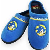 Sonic Go Faster Mule Slippers Blue Adult Large Uk 8-10 Rubber Sole
