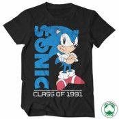 Sonic The Hedgehog - Class Of 1991 Organic T-Shirt, 100% Organic T-Shirt