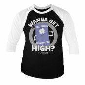 South Park / Towelie - Wanna Get High Baseball 3/4 Sleeve Tee, Baseball 3/4 Sleeve Tee