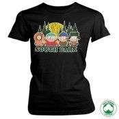 South Park Distressed Organic Girly T-Shirt, 100% Organic Girly T-Shirt