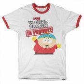 South Park - I'm White Trash In Trouble Ringer Tee, Ringer Tee