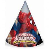 6 stk Partyhattar - Ultimate Spider-Man