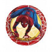 8 stk Små Papptallrikar 20 cm - Ultimate Spider-Man