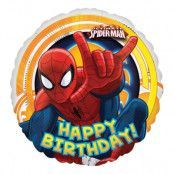 Folieballong Happy Birthday Spiderman