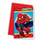 Inbjudningskort Spindelmannen - 6 st