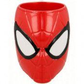 Licensierad Spider-Man 3D Kopp i Plast