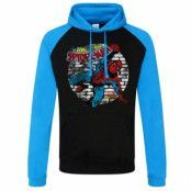 Marvel Comics - Distressed Spider-Man Baseball Hoodie, Baseball Hooded Pullover