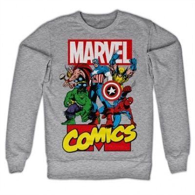 Marvel Comics Heroes Sweatshirt, Sweatshirt