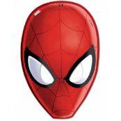 6 stk Pappmasker - Ultimate Spider-Man