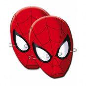 6 stk Spider-Man Pappmasker