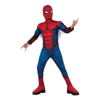 Spider-Man med Muskler Deluxe Barn Maskeraddräkt - Small