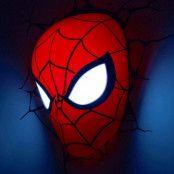 Spiderman 3D Vägglampa