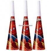 Spindelmannen partyhorn - 6 st