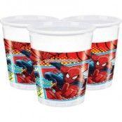 Spindelmannen plastmuggar 200ml - 8 st