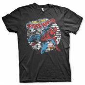 BlackFriday-Distressed Spider-Man T-Shirt X-Large, Basic Tee