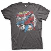 Distressed Spider-Man T-Shirt, Basic Tee