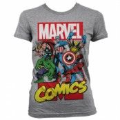 Marvel Comics Heroes Girly T-Shirt, Girly T-Shirt