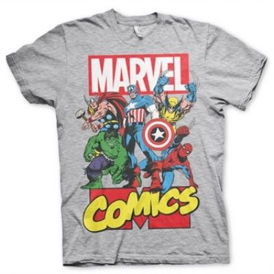 Marvel Comics Heroes T-Shirt, Basic Tee