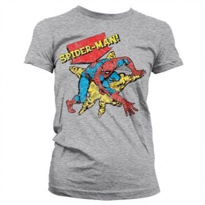Retro Spider-Man Girly T-Shirt, Girly T-Shirt
