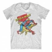 Retro Spider-Man V-Neck T-Shirt, V-Neck T-Shirt