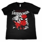 Spider-Man Close Up Kids T-Shirt, Kids T-Shirt