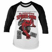 Spider-Man Comic Book Baseball Long Sleeve T-Shirt, Baseball Long Sleeve T-Shirt