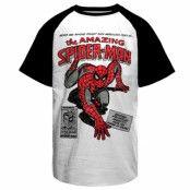 Spider-Man Comic Book Baseball T-Shirt, Baseball T-Shirt