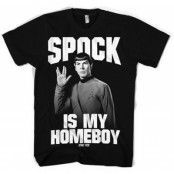 Spock Is My Homeboy T-Shirt, Basic Tee