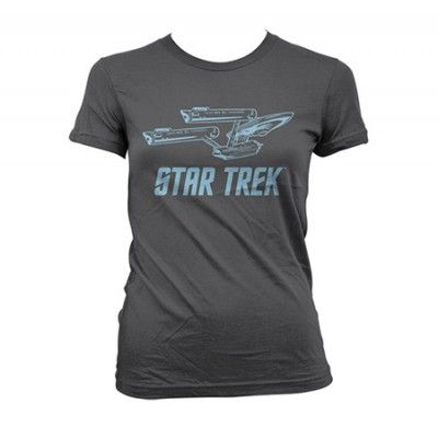 Star Trek / Enterprise Ship Girly T-Shirt, Girly T-Shirt