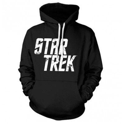 Star Trek Distressed Logo Hoodie, Hooded Pullover