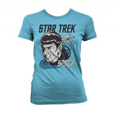 Star Trek & Spock Girly T-Shirt, Girly T-Shirt