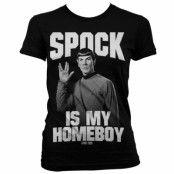Star Trek Spock Is My Homeboy Girly T-Shirt