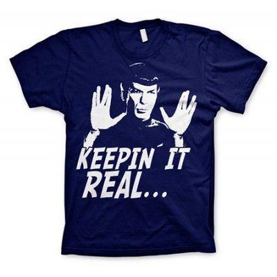 Star Trek - Spock Keepin´ It Real T-Shirt, Basic Tee