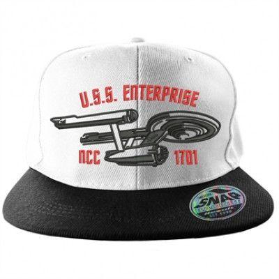 Star Trek U.S.S. Enterprise Snapback Cap, Adjustable Snapback Cap