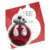 6 stk Inbjudningskort - Star Wars The Last Jedi