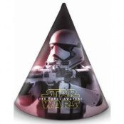 6 stk Partyhattar - Star Wars The Force Awakens