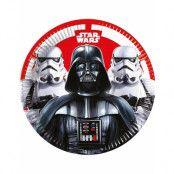 8 stk Papptallrikar 23 cm - Star Wars Final Battle